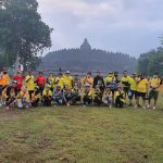 Pengwil Jateng INI foto bareng Notary Goweser Comunity di Pelataran Candi Borobudur