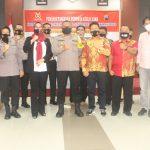 Foto bersama Ketua Pengda Kab.Wonosobo INI, Kapolres Wonosobo dan Ketua Pengwil Jawa Tengah INI usai acara penandatanganan MOU
