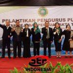 Ketum PP IPPAT, Dr. Hapendi Harahap,SH,MH bersama Sekum PP IPPAT, Otty Hari Chandra Ubayani,SH,SpN,MH serta para senior dan Akhmad Muqowam pada saat Pelantikan PP IPPAT Periode 2021 - 2024 di hotel Grand Sahid Jaya Jakarta Senin (12/4/2021) lalu