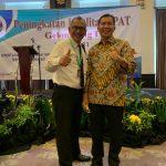 R. Giardi Suharjanto,SH,M.Kn bersama Salah satu Pejabat Kementerian ATR/BPN RI disela-sela Mengikuti Kegiatan Peningkatan Kualitas PPAT di Hotel Royal Kuningan, Jaksel (2/6/2021)